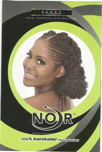 AFRO MARLEY BRAID JANET COLLECTION  NOIR  PREMIUM SYNTHETIC HAIR 100% KANEKALON